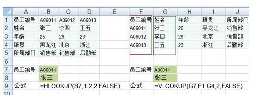Excel中vlookup与lookup函数的区别与使用方法