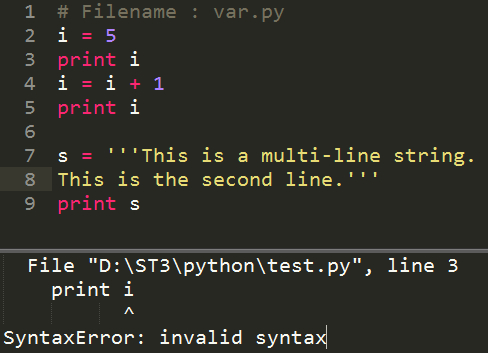 Python程序提示SyntaxError: invalid syntax错误_invalid syntax