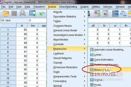 spss逻辑回归分析_spss逻辑回归哑变量设置和分析方法