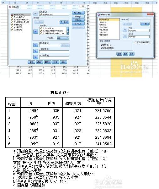 spss教程:线性回归分析