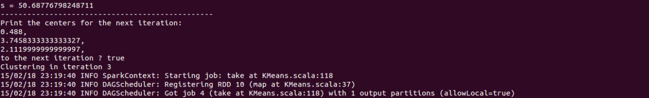 初试Spark之K-Means聚类算法实现
